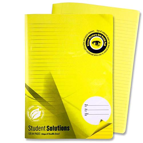 "Premier Stationery C3213460 A4""Student Solutions Visual Aid"" Manuscript Book with Plastic Cover from Premier Stationery"