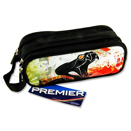 Premier Stationery C5616232 Viper Design Campus Oval 3 Pocket Zip Pencil Case from Premier Stationery