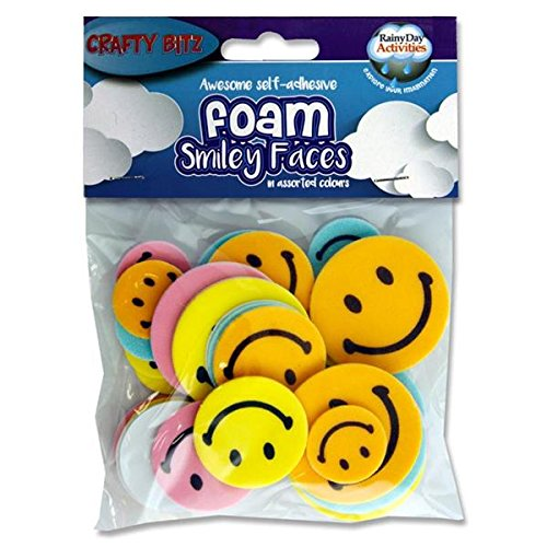 Premier Stationery Crafty Bitz Smiley Face - Assorted (Pack of 30) from Premier Stationery