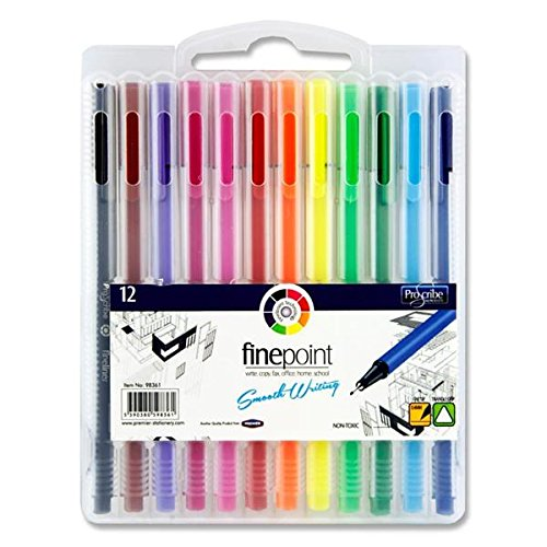 Premier Stationery Finepoint Felt Tips Pen (Pack of 12) from Premier Stationery