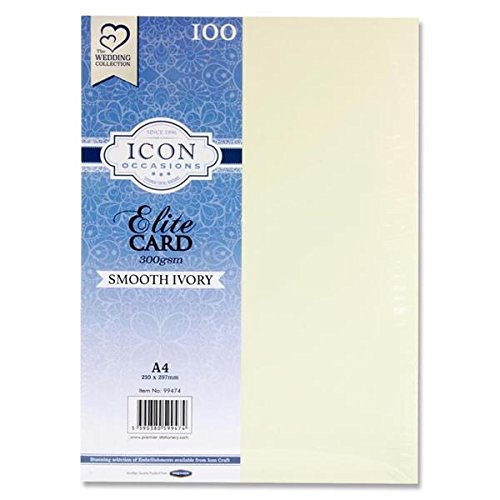 Premier Stationery G3899474 A4 300 GSM Icon Smooth Card - Ivory from Premier Stationery
