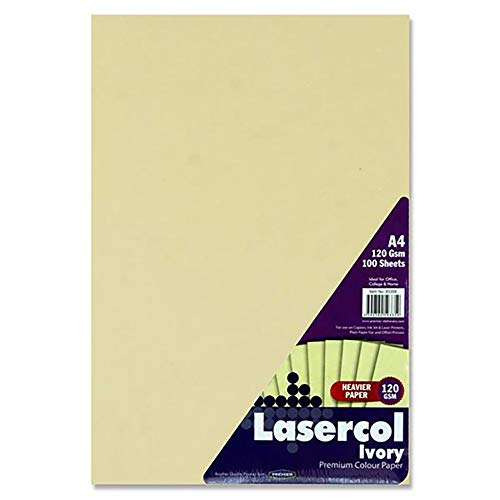 Premier Stationery S4593359 Lasercol A4 120 gsm Activity Paper - Ivory (Pack of 100 Sheets) from Premier Stationery