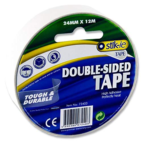 Premier Stationery Stik-ie 24 mm x 12 m Double Sided Tape from Premier Stationery