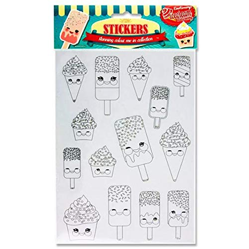 "Premier Stationery W2113811""Ice Cream"" Emotionery Colour ME Stickers with Glitter Embellishment from Premier Stationery"
