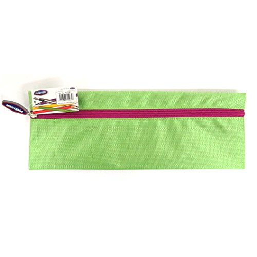 Xtreme Bright, Long and Strong Fabric 13' Pencil Case (Green) from Premier Stationery