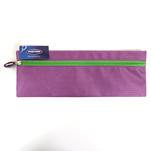 Xtreme Bright, Long and Strong Fabric 13' Pencil Case (Purple) from Premier Stationery