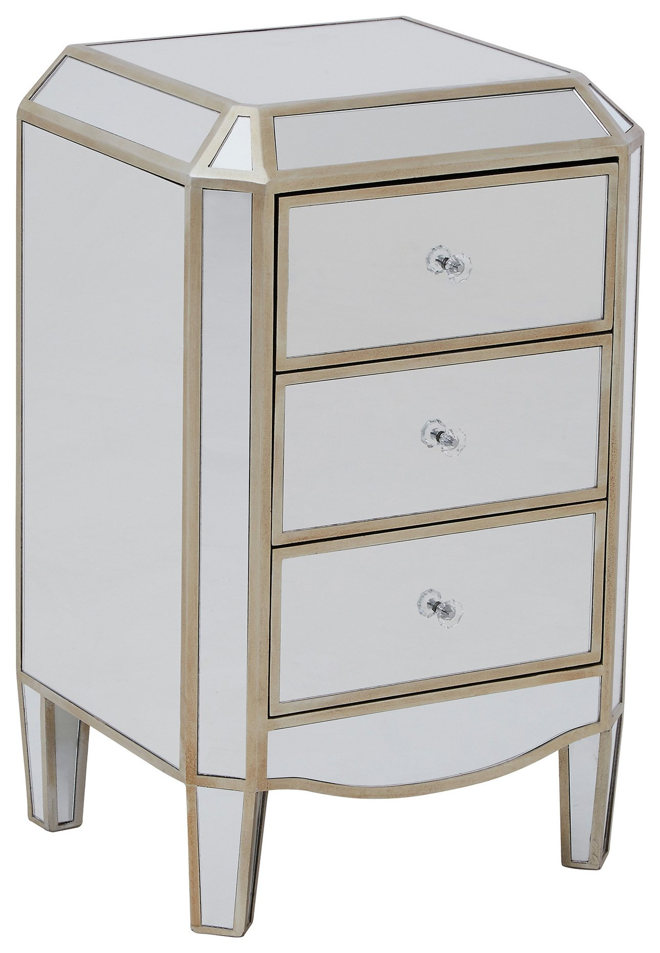 Premier Housewares Tiffany Mirrored 3 Drawer Chest. at Argos from Premier housewares