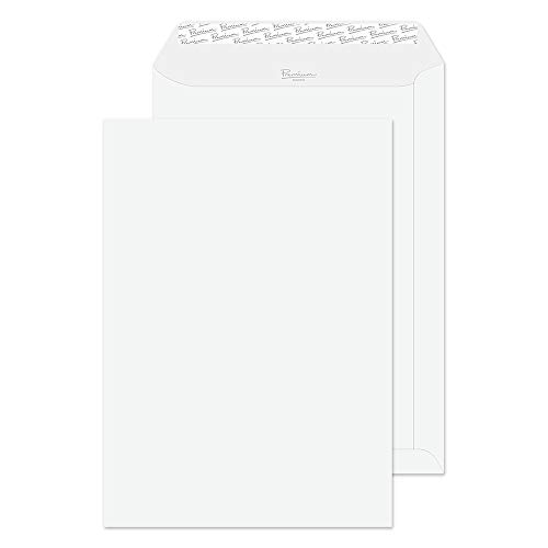 Blake Premium Business C4 324 x 229 mm 120 gsm Peel & Seal Pocket Envelopes (91653) Diamond White Laid - Pack of 20 from Blake