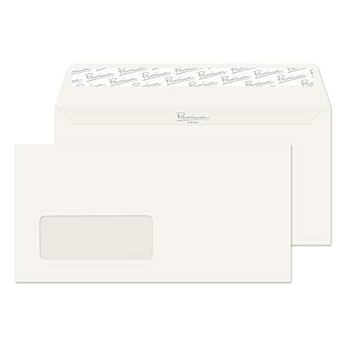 Blake Premium Business DL 110 x 220 mm 120 gsm Peel & Seal Window Wallet Envelopes (71884) Oyster Wove - Pack of 500 from Blake