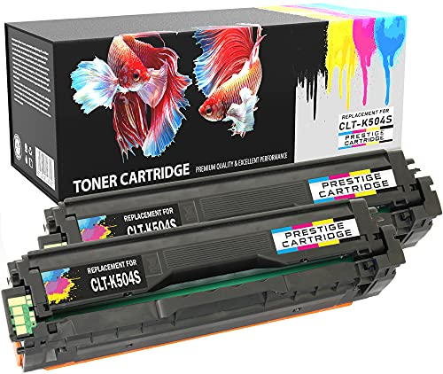 Prestige Cartridge CLT-K504S Pack of 2 Compatible Laser Toner Cartridges for Samsung CLP-415N, CLP-415NW, CLX-4195FN, CLX-4195N, CLX-4195FW, Xpress C1810W, C1860FN, C1860FW - Black from PRESTIGE CARTRIDGE