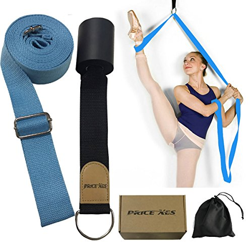 Leg Stretcher, Door Flexibility & Stretching Leg Strap - Great for Ballet Cheer Dance Gymnastics or ANY Sport Leg Stretcher Door Flexibility Trainer Premium stretching equipment (light blue) from Price Xes