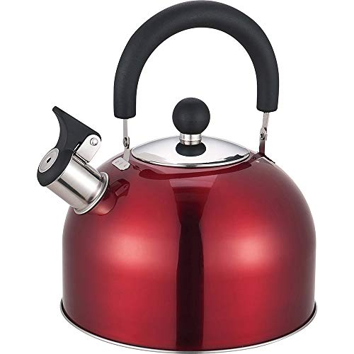 Prima 2.5L Stainless Steel Whistling Camping//Clamping Kettle in Pink