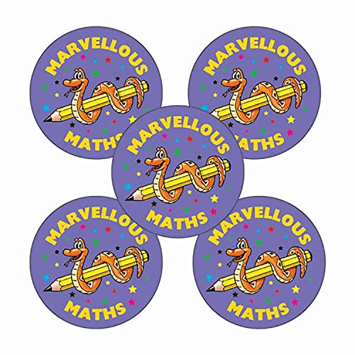 Marvellous Maths Purple School Reward Sticker x 210 - Primary Teaching Services from Primary Teaching Services Ltd