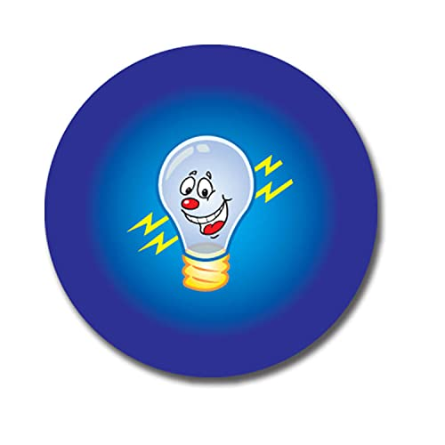 Personalised Smiley Light Bulb Idea Stickers 25 Millimetres x 70 - Primary Teaching Services from Primary Teaching Services Ltd