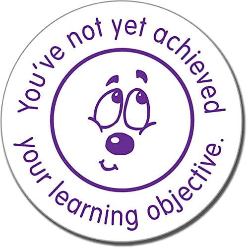 Learning Objective Not Yet Achieved Purple School Marking Stamper - Primary Teaching Services from Primary Teaching Services Ltd
