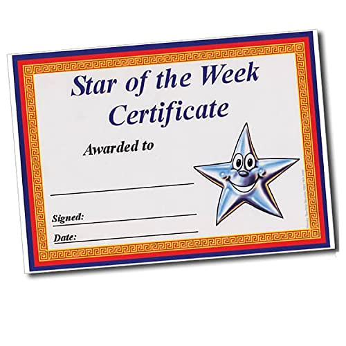 Star of the Week Border School Classroom Certificates A5 x 20 - Primary Teaching Services from Primary Teaching Services Ltd
