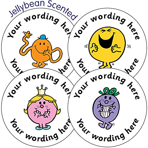 Personalised jellybean scented mr men stickers 37 millimetres x 35 primary teaching services from primary
