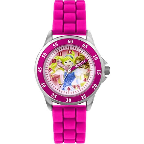 Princess Girls' Time Teacher Quartz Watch with Rubber Strap – PN1078 from Princess
