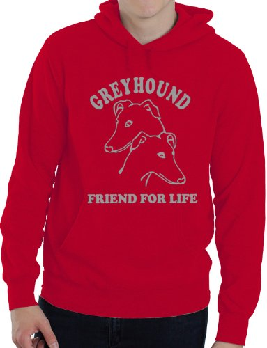 Greyhound ~ Dog Lover Hoodie ~ Great Gift Idea! ~ in 6 Colours Medium Red from Print4U