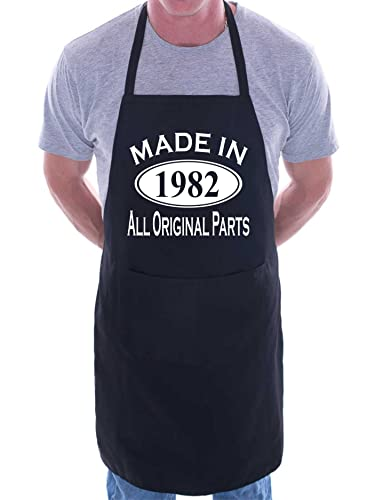 Made In 1977 40th Birthday BBQ Cooking Funny Novelty Apron Black from Print4U