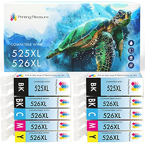 10 (2 SETS) Compatible PGI-525 CLI-526 Ink Cartridges for Canon Pixma iP4800 iP4840 iP4850 iP4950 MG5120 MG5140 MG5150 MG5240 MG5250 MG6140 MG6150 MG8120 MG8140 MG8150 iX6550 MX885 - High Capacity from Printing Pleasure