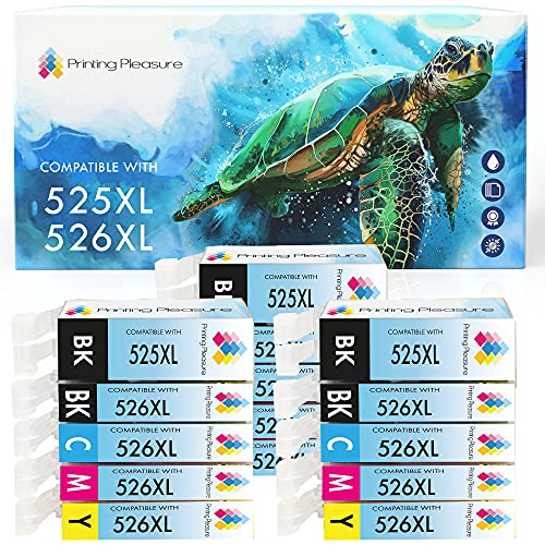 15 (3 SETS) Compatible PGI-525 CLI-526 Ink Cartridges for Canon Pixma iP4800 iP4840 iP4850 iP4950 MG5120 MG5140 MG5150 MG5240 MG5250 MG6140 MG6150 MG8120 MG8140 MG8150 iX6550 MX885 - High Capacity from Printing Pleasure