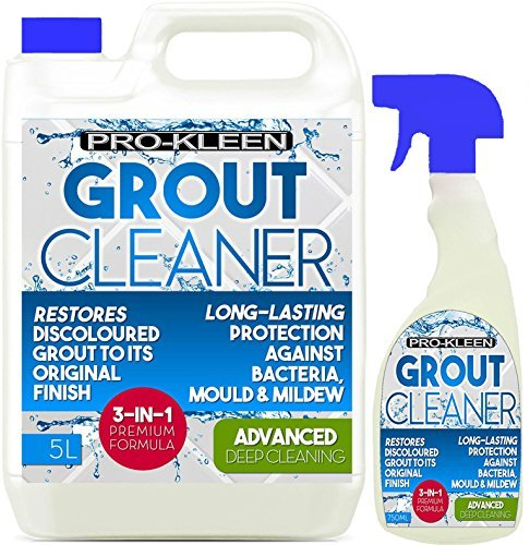 5L + 750ml Pro-Kleen Tile Grout Cleaner Restorer Reviver Kitchen Bathroom from Pro-Kleen