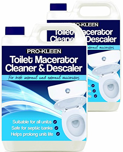 10L of Pro-Kleen Toilet Macerator Cleaner & Descaler - Highly Concentrated, Long-Lasting Formula - Compatible With All Saniflo Pump Units, Toilets & Urinals - Helps Prolong Life of Unit from Pro-Kleen