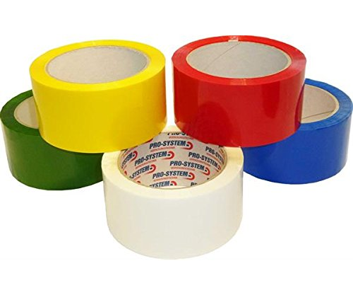 PRO SYSTEM 25004 A SVA 400/33 Polypropylene Packing Tape 66 m Long, Coloured, 50 mm Wide, Yellow (Pack of 36) from Pro-System