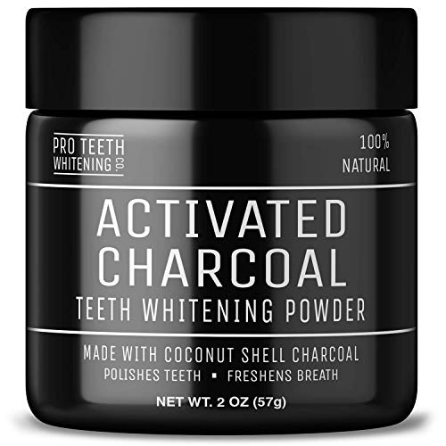 Activated Charcoal Natural Teeth Whitening Powder Peppermint Flavour by Pro Teeth Whitening Co® | Manufactured in the UK from Pro Teeth Whitening Co