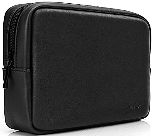 ProCase Accessories Bag Organizer Power Bank Case, Electronics Accessory Travel Gear Organize Case, Cable Management Hard Drive Bag -Black from Procase