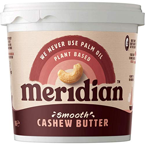 (Pack of 6) Meridian - Natural Cashew Butter Smooth 1000 g from Meridian Foods