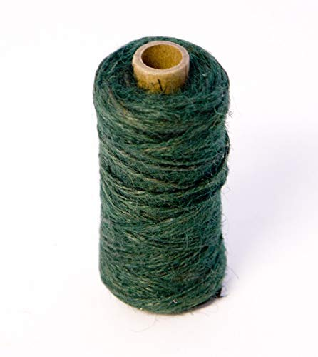 2 Rolls Oasis Mossing Jute Twine String Tie GREEN x 75m for Florist, Floral, Flowers, Garden, Plants, Crafts from Smithers Oasis