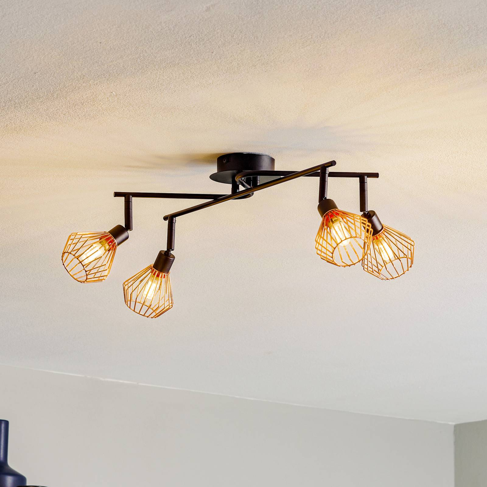 4-bulb Dalma ceiling light from Brilliant