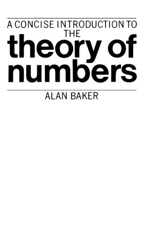 Concise Intro Theory of Numbers from Cambridge University Press