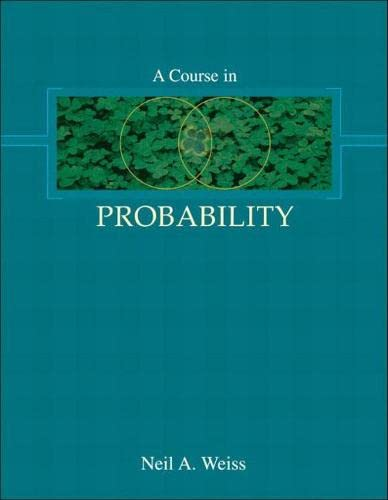 A Course in Probability from Addison Wesley