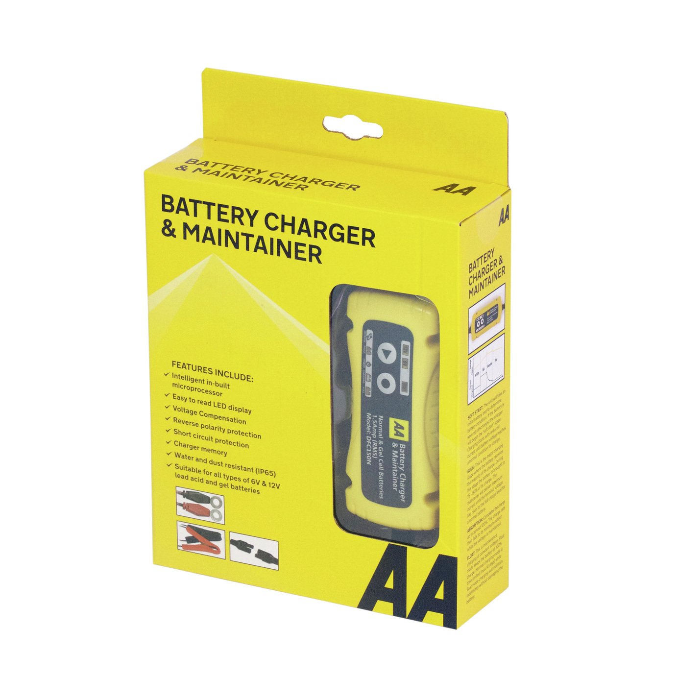 AA 6V/12V Smart Trickle Car Battery Charger. from AA