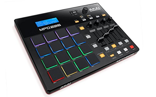 AKAI Professional MPD226 | 16-Pad USB/MIDI Pad Controller with RBG MPC Pads, Fully-Assignable Production-Ready Controls (Faders, Knobs & Buttons) and Production Software Package Included from AKAI Professional