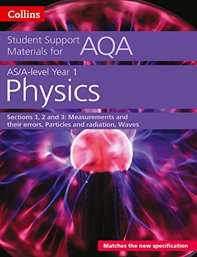 AQA A Level Physics Year 1 & AS Sections 1, 2 and 3: Measurements and their errors, Particles and radiation, Waves (Collins Student Support Materials) from Collins