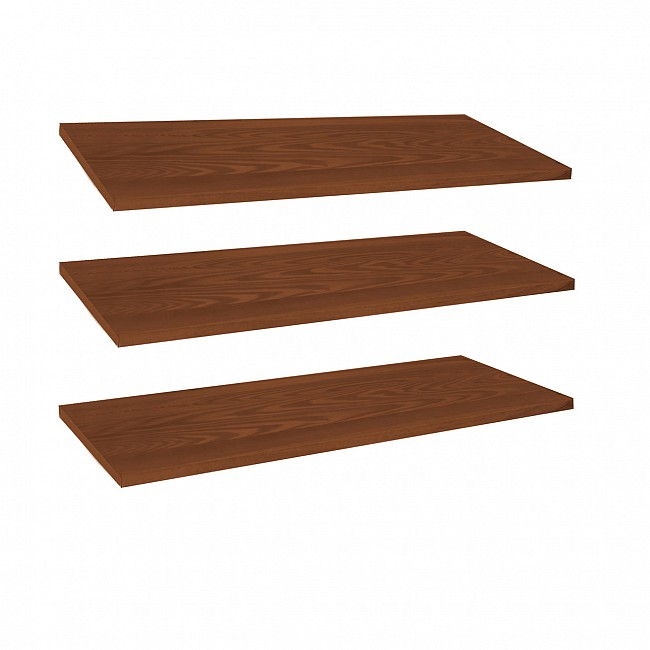 Additional shelves for LINEA, 3piece-set, brown