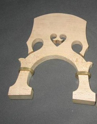Adjustable Double Bass Bridge Maple With Screw French Style size1/2 from CJ Stephen Music Supplies