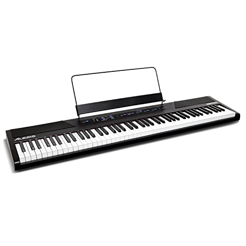 Alesis Recital - 88-Key Beginner Digital Piano / Keyboard with Full-Size Semi-Weighted Keys, Power Supply, Built-In Speakers and 5 Premium Voices (Amazon Exclusive) from Alesis