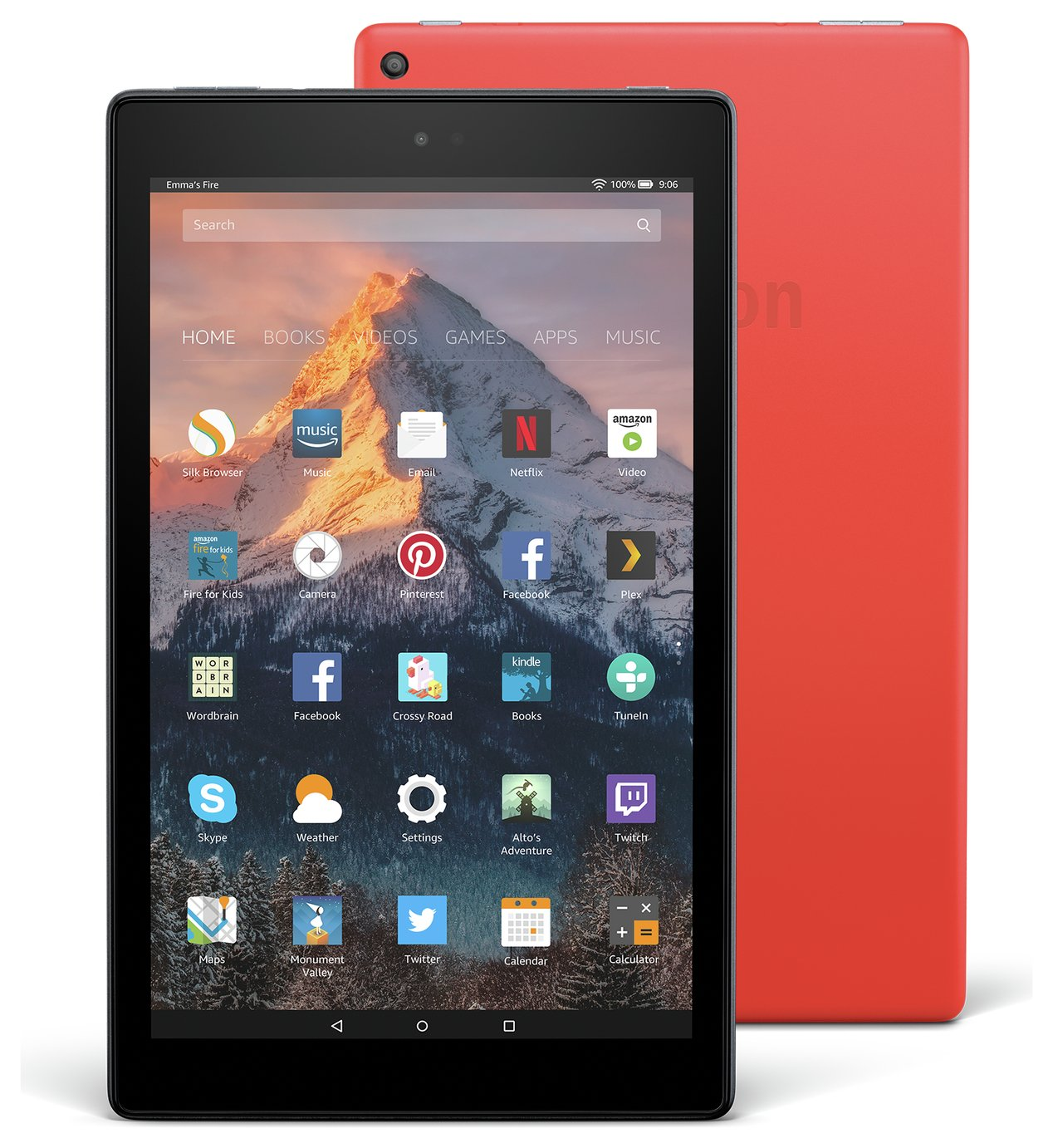 Amazon Fire 10 10.1 Inch 32GB Tablet - Red from Amazon