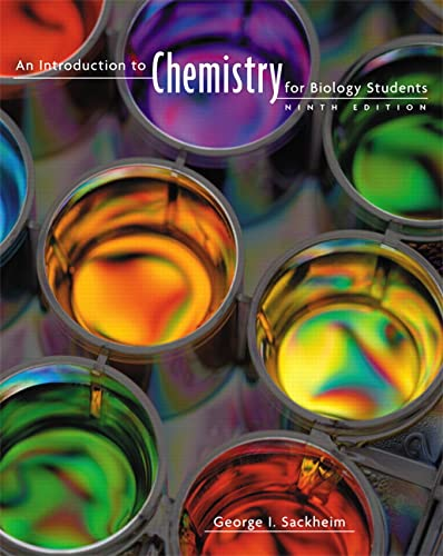 An Introduction to Chemistry for Biology Students from Pearson