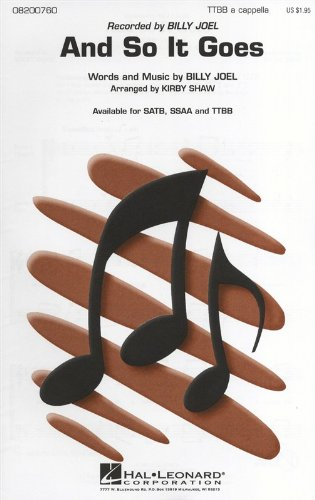 And So It Goes TTBB a cappella from Hal Leonard