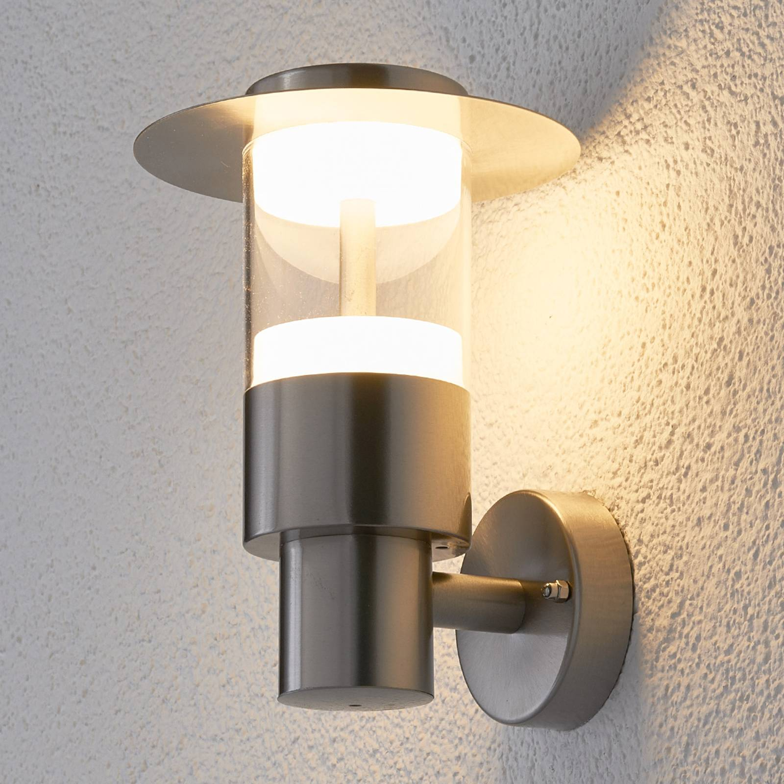 Anouk stainless steel outdoor wall light with LED from Lampenwelt.com