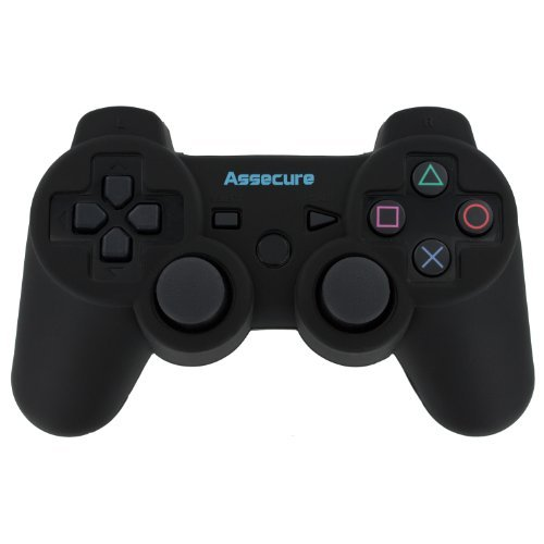 Assecure Pro Silicone Gel Skin Cover Case Grip For Sony PS3 Controller [Playstation 3] - Black from Assecure