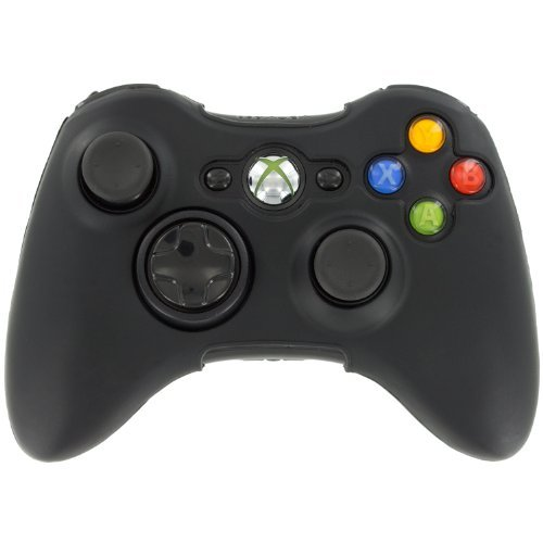 Assecure Silicone Skin Protective Cover Xbox 360 Controller Rubber Bumper Case (Black) from Assecure