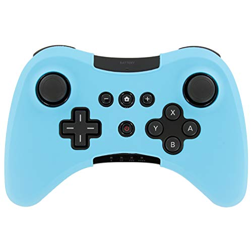 Assecure Silicone Skin Protective Cover for Wii U Pro Controller Rubber Bumper Case - (Light Blue) from Assecure
