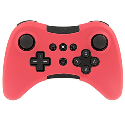Assecure Silicone Skin Protective Cover for Wii U Pro Controller Rubber Bumper Case - (Red) from Assecure